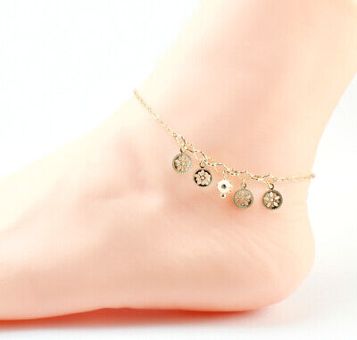 18k Gold Filled with Turquoise Bead Anklet, Ankle Bracelet