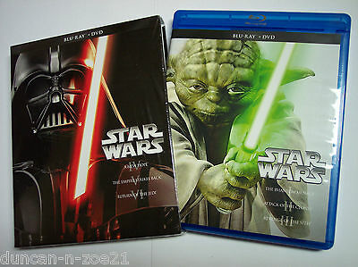 Star Wars Saga MINT Complete 1-6 Blu-ray Set Episodes I,II,III,IV,V,VI (NO DVDs)