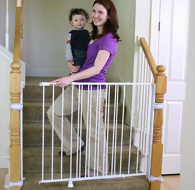 Regalo Extra Tall Top Of Stairs Gate, With Mounting Kit, White 1235 New