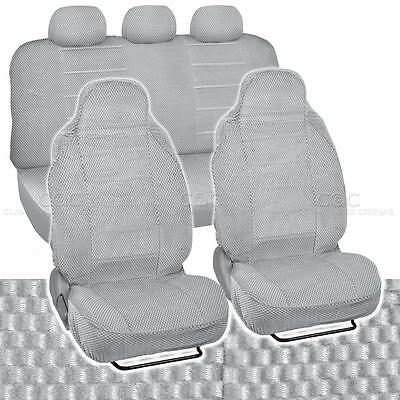 Checkered Cloth Scottsdale Seat Covers High Back Padded in Gray
