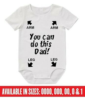 BABY Romper You Can Do It Dad Bodysuit Cute Funny Gift Mum Uncle Aunty Mum Nana