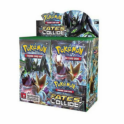 Pokemon Xy-10 Fates Collide Sealed Booster Box - 36 Packs New Trading Cards 2016