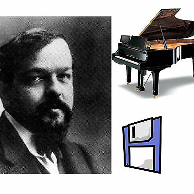 Debussy Classical Solo Piano Collection for all Yamaha Disklavier 3 Floppy Disks
