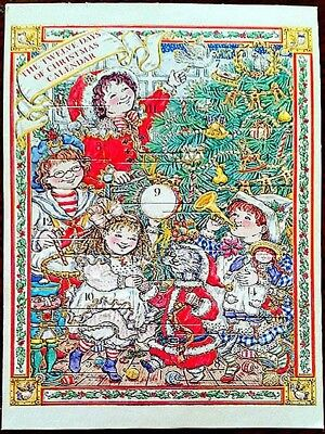 6x4 ADVENT CALENDAR CARD Alyse Newman 12 DAYS OF CHRISTMAS Mint Shackman