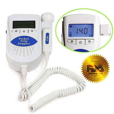 Sonoline B Fetal doppler /Backlight LCD, baby heart monitor, 3mhz probe+Gel, FDA