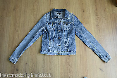 Bleached stretch denim jacket age 14-15 yrs from New Look fast postage