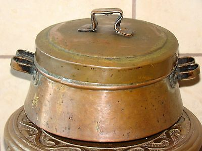 Antique Copper Handmade Arabic/Persian/Turkish/Islamic Pot/Cookware w/Lid