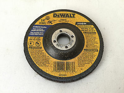 "NEW Dewalt 4"" Stainless Metal Grinding Wheel 1/4"" Thick 5/8"" Arbor Canada"
