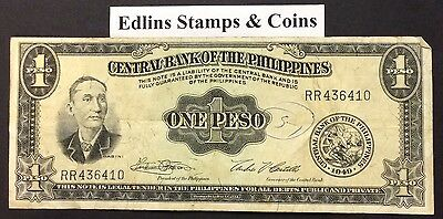 1949  Philippines 1 peso circulated condition - RR436410