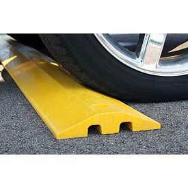 Plastics-R-Unique 21048sby Yellow Speed Bump With Cable Protection & Hardware -