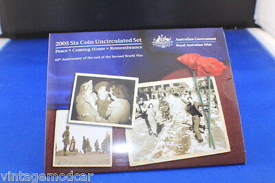 Royal Australian Mint 2005 Uncirculated Six Coin Set Peace-Coming Home-Remembran