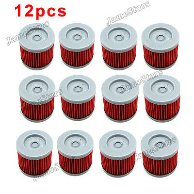 12x Oil Filter Fuel Cleaner For K157FMI Sinnis Apache 125 125cc QM125GY