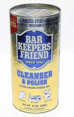 Bar Keepers Friend® Cleanser & Polish 12 Oz Two Pack by Bar Keepers Friend NEW