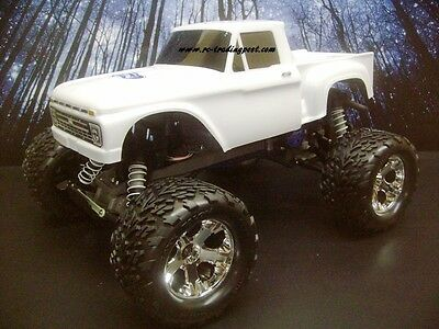 CUSTOM PAINTED BODY Silverado 2500 HD For 1/10 RC Monster Truck