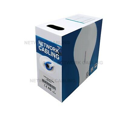 100m Cat 5 Cat5 Blue RJ45 Home Ethernet Network LAN Cable Cord Lead Roll Boxed