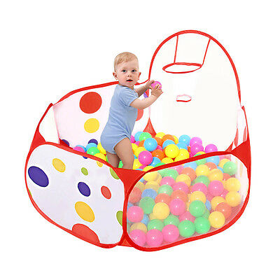 Children Toddlers Ocean Ball Pool Pit Play Tent Outdoor Indoor Kids With Basket