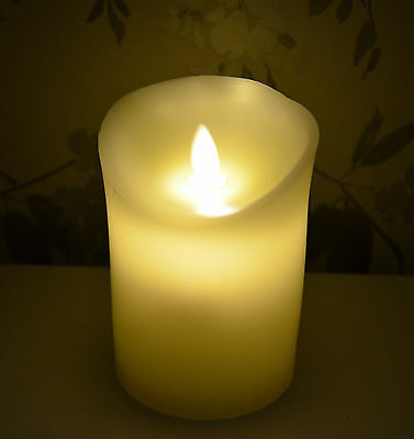 LED Wax Flickering Candle - NEW and with batteries and box.