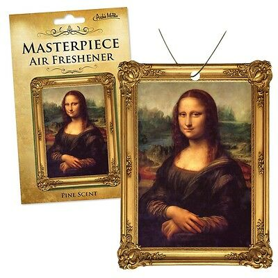 Archie Mcphee Mona Lisa Air Freshener Car Gift Fun Kitsch Retro Novelty Masterpi