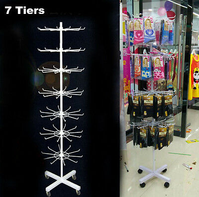 360° Rotating Jewellery Display Rack Necklace Socks Organiser Holder Stand