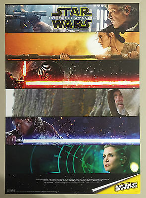 Star Wars 7 The Force Awakens - Double Sided Rare Poster