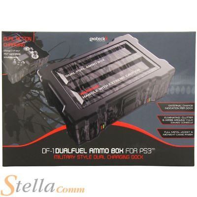 Gioteck DF-1 Dual Fuel Ammo Box Twin Controller Charging Dock for PS3