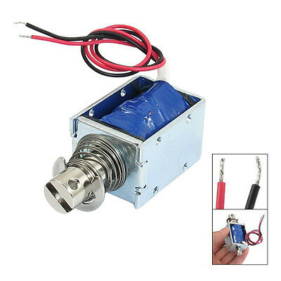 1kg Force 10mm Stroke Push Open Frame Solenoid DC 12V E8