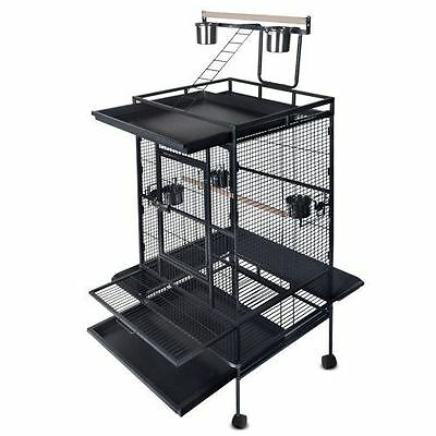 Parrot Pet Aviary Bird Cage 170cm Black Shopiverse Deal