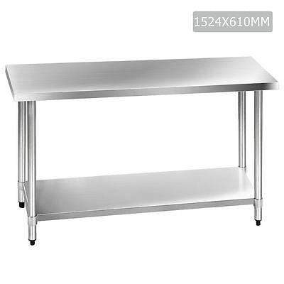 304 Stainless Steel Kitchen Work Bench Table 1524mm Shopiverse Deal