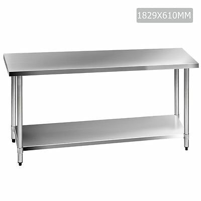 430 Stainless Steel Kitchen Work Bench Table 1829mm Shopiverse Deal