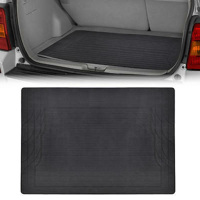 Trunk Cargo Floor Mat Black Odorless Utility Rubber Liners Full Flex All Weather