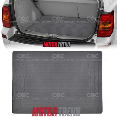 MOTOR TREND Gray Rubber Mat Cargo Trunk Liner 1pc Odor-Free Non-Toxic