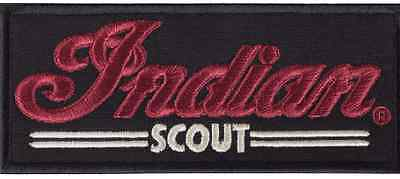 Scout Patch Black By Indian Motorcycle Embroidered Textile Logo Sixty Vest Cut