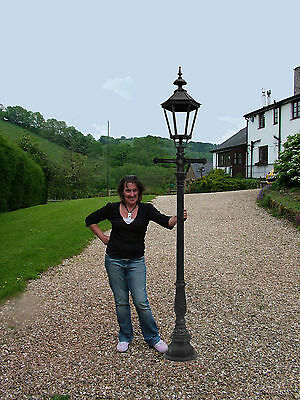 """Cast Iron 100"""" Lamp Post Victorian style - clear glass (E43 straight ladder bar)"""