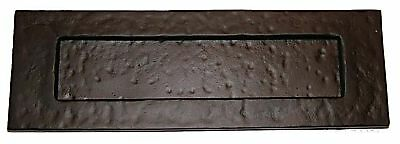 """Rustic Style Letter Plate / Flap 10"""" x 3"""" in Black Cast Iron (B3315)"""