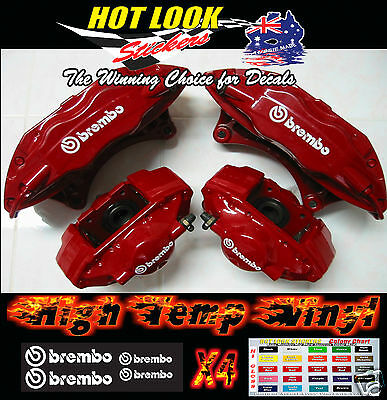 Mitsibishi Brembo Brake Caliper Sticker Decal Kit For Evo Lancer Hi-Temp Vinyl