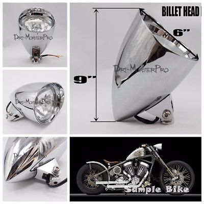 Chrome Head Light Headlight for Harley Davidson Bobber/Springer/Softail/Chopper