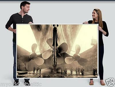R.M.S. Titanic Propellers GIANT 4ft x 6ft Photo Poster Mural