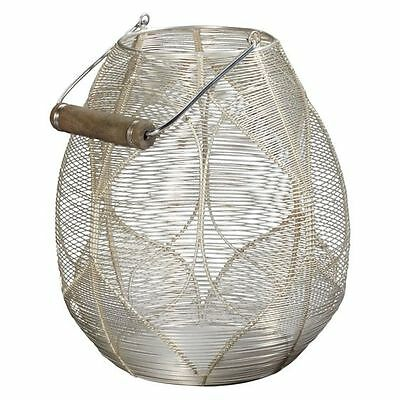 NEW LS Collections Silver Wire Palm Lantern