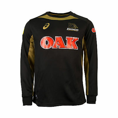 2016 NRL PENRITH PANTHERS ASICS Mens Warm Up Top Jumper, sizes S-3XL
