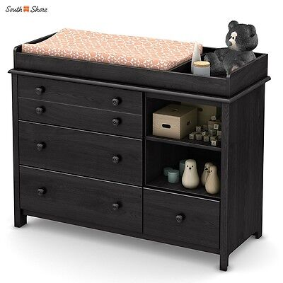 South Shore Little Smileys Changing Table With Removable Station In Gray  Oak New