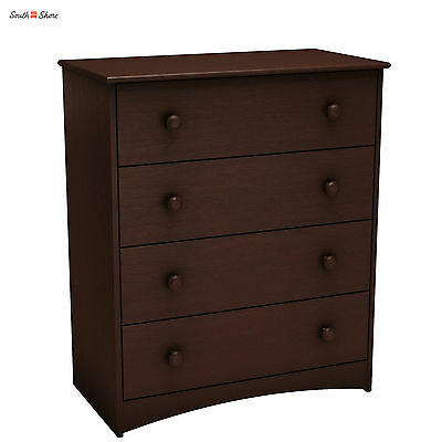 South Shore Angel 4-Drawer Chest in Espresso Finish ideal for Baby Clothing New