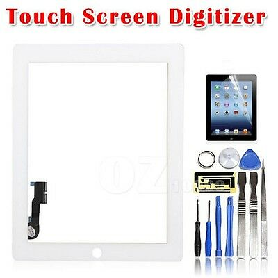 Touch Glass Digitizer Repair Kit For iPad 3 / iPad 4 Replacement Screen White