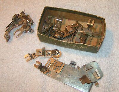 Vintage Greist SEWING MACHINE Parts for Fixing Hemmers Foot parts Etc.