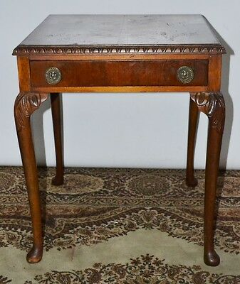 Antique Carved Walnut Top Side Hall Table - FREE Delivery [PL2070]