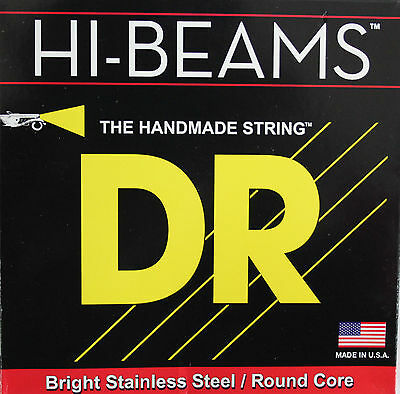 DR Strings Hi-Beam Electric Bass Guitar Strings 4 5 6 sets Round Stainless Steel