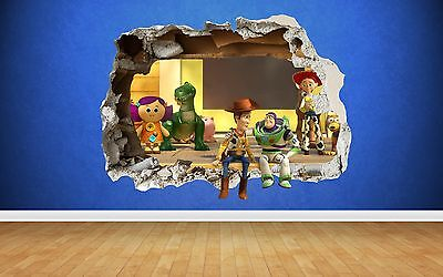 Toy Story Smashed Wall 3D Style Sticker - Bedroom Boys Vinyl Wall Art