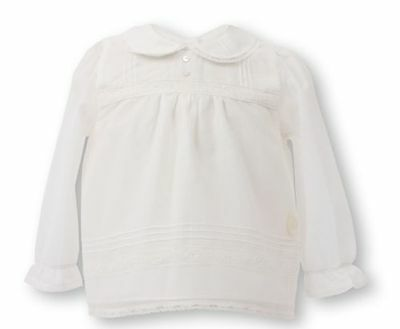Baby Dior Mädchenbluse off white  Baby Dior girls blouse NP219EUR SALE NEW NEU