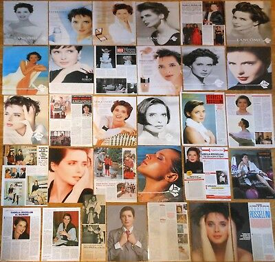ISABELLA ROSSELLINI 1970s/00s spanish clippings photos magazine articles ads