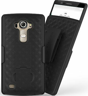 Stalion® Secure Belt Clip Holster & Shell Case Combo with Kickstand for LG G4