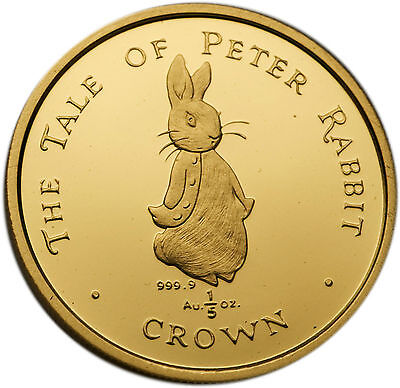 UK Gibraltar 1997 Tale of Peter Rabbit 1/5 oz Gold Proof Coin